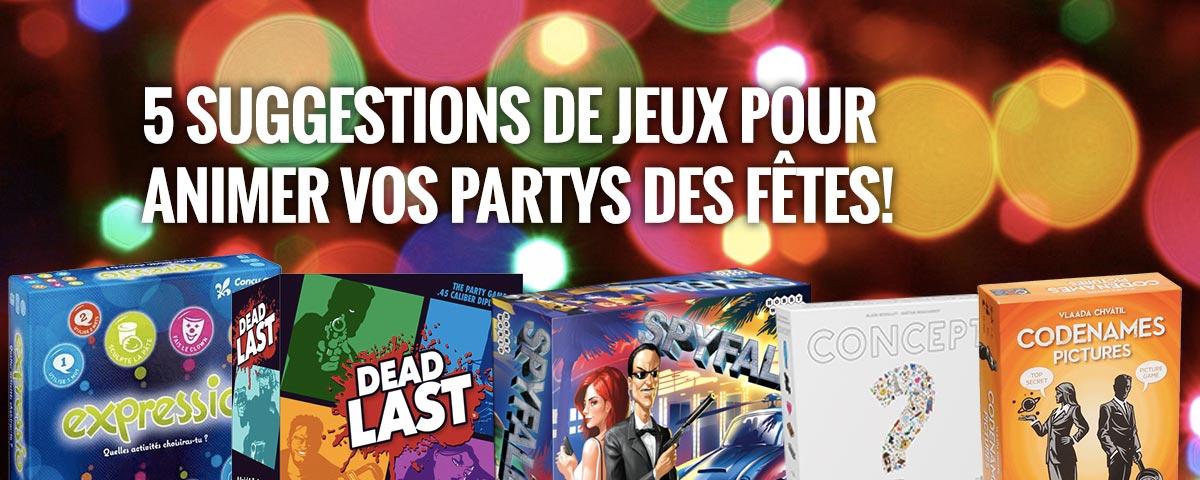 5 suggestions de jeux pour animer vos partys des fetes