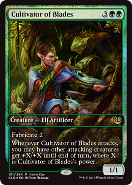kaladesh game day promo cultivator of blades